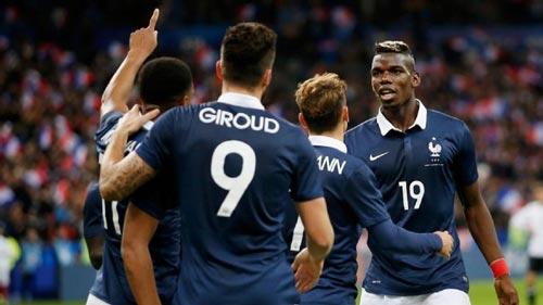 Pháp với lợi thế sân nhà và dàn tiền vệ hùng hậu được đánh giá là ứng viên số 1 cho ngôi vô địch Ảnh: REUTERS