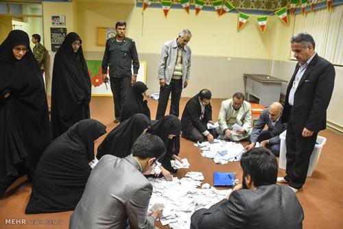 Kết quả kiểm phiếu sơ bộ cho thấy phe cải cách thắng lớn tại khu vực thủ đô Tehran  trong cuộc tổng tuyển cử Ảnh: MEHR