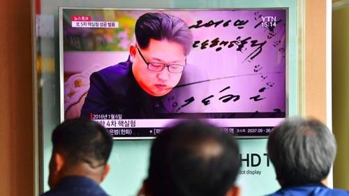 Truyền hình Hàn Quốc đưa tin về vụ thử hạt nhân mới nhất của Triều Tiên Ảnh: YTN