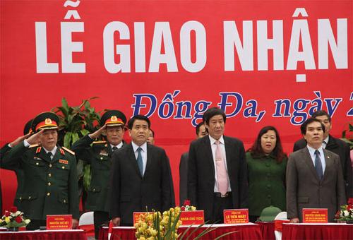 Chủ tịch UBND TP Hà Nội Nguyễn Đức Chung tại lễ xuất quân tại di tích gò Đống Đa