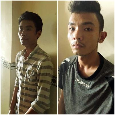 Hai đệ tử đắc lực của Quyết là Nguyễn Anh Tuấn (trái) và Trần Anh Tuấn