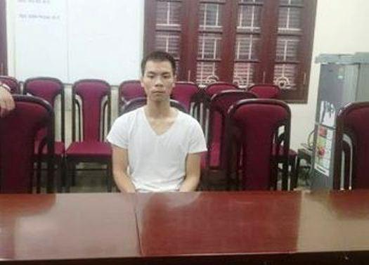 Nghi phạm giết người Đinh Quốc Khánh tại cơ quan điều tra