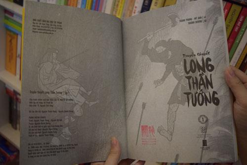 """Cuốn """"Long thần tướng"""" (Vẽ: Hoạ sĩ Thành Phong, kể chuyện: Biên kịch Nguyễn Khánh Dương) vừa đoạt Giải Bạc tại Giải thưởng Truyện tranh quốc tế Nhật Bản 2016"""
