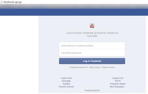 Các đường dẫn có giao diện giống hệt Facebook để đánh lừa người dùng nhập tài khoản.