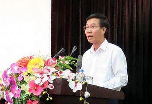 Trưởng Ban Tuyên giáo trung ương Võ Văn Thưởng phát biểu tại lễ kỷ niệm Ảnh: TTXVN