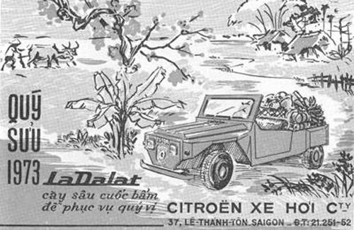 Quảng cáo bán xe La Datlat tại Sài Gòn năm 1973. Ảnh: Tư liệu