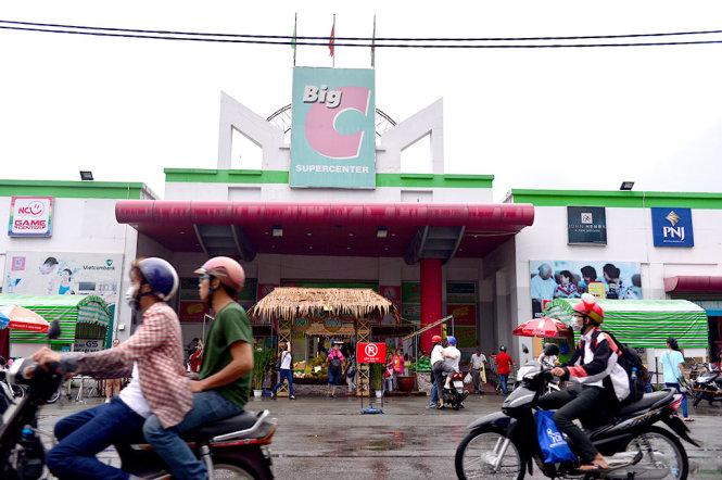Siêu thị Big C trên đường Hoàng Văn Thụ, Q.Phú Nhuận, TP HCM - Ảnh: QUANG ĐỊNH