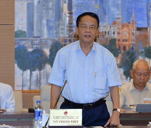 Chủ nhiệm Ủy ban Quốc phòng - An ninh Võ Trọng Việt phát biểu tại cuộc họp Ảnh: THẾ DŨNG