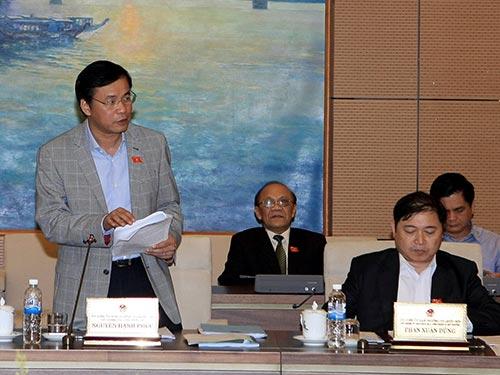 Tổng Thư ký Quốc hội Nguyễn Hạnh Phúc cho biết tại kỳ họp thứ 10, Quốc hội khóa XIII đã tiến hành tái giám sát toàn khóa Ảnh: TTXVN