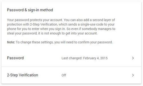 Thêm tùy chọn xác thực 2 lần. Vô hiệu hóa Allow Less Secure Apps