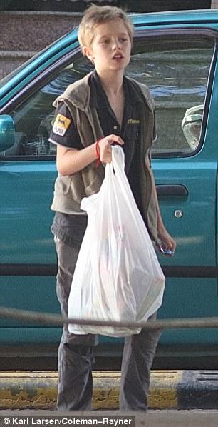 Angelina Jolie mua thực phẩm, quần áo