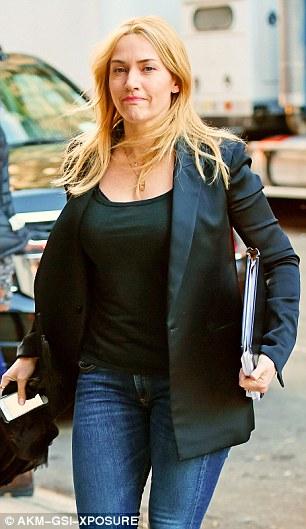 Kate Winslet tại trường quay phim mới
