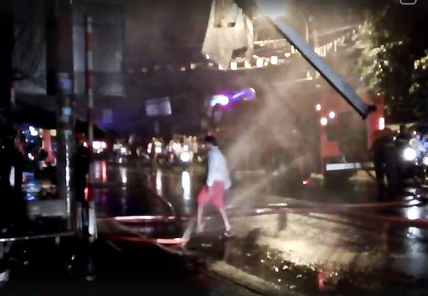 Hiện trường vụ cháy (Ảnh: CTV)