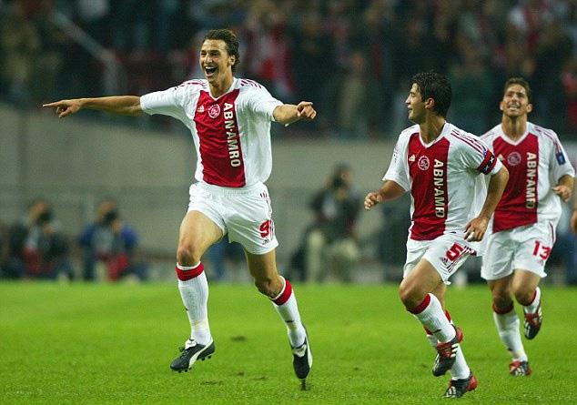 Ibrahimovic khi còn khoác áo Ajax