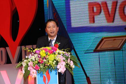 Ông Trịnh Xuân Thanh lúc còn làm chủ tịch HĐQT PVC Ảnh: PVC.VN