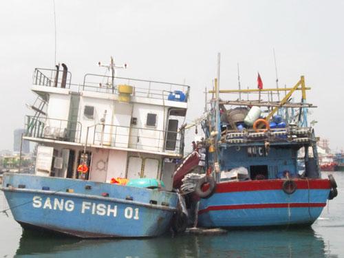 Cùng với tàu Hoàng Anh 01, tàu Sang Fish 01 cũng được trả lại cho Công ty Đóng tàu Nha Trang Ảnh: QUANG QUÝ
