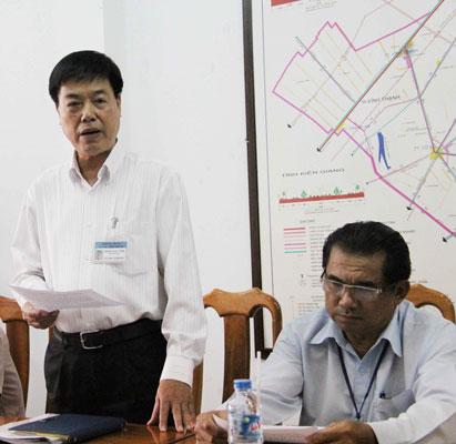 Phó Giám đốc Sở GTVT TP Cần Thơ Trịnh Ngọc Vĩnh chủ trì buổi họp báo