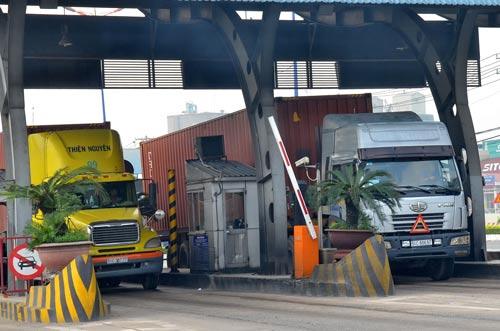 Trạm thu phí Rạch Chiếc - xa lộ Hà Nội (TP HCM)Ảnh: Tấn Thạnh