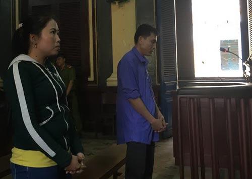 Hai bị cáo Nguyễn Văn Đấm và Nguyễn Thị Thúy