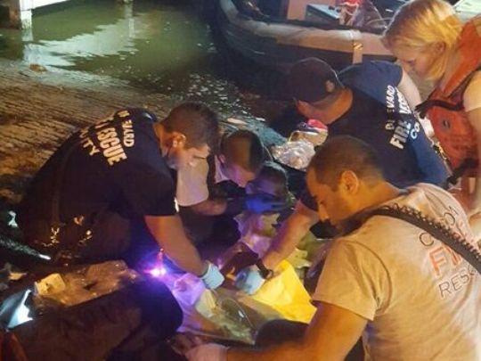 Cảnh sát làm việc tại hiện trường. Ảnh: Cocoa Police Dep.