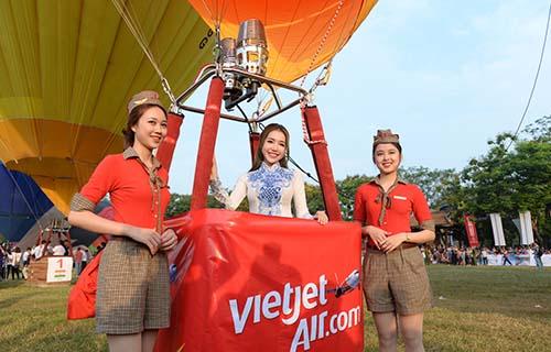 Vietjet tham dự Ngày hội khinh khí cầu quốc tế 2016