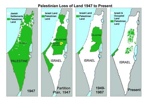 Bản đồ lãnh thổ Palestine và Israel qua các thời kỳẢnh: IF AMERICANS KNEW