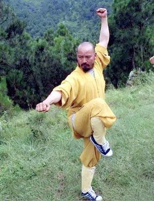 Tịnh Không pháp sư, trụ trì Vô Vi Tự hiện nay, biểu diễn những tuyệt kỹ võ thuật của hoàng gia Đại Lý. Ảnh: INTERNET