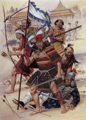 Minh họa trận chiến giữa quân nhà Minh và hải tặc