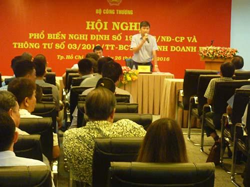 ông Nguyễn Lộc An, Vụ phó Vụ Thị trường trong nước thuộc Bộ Công Thương, trả lời bức xúc các doanh nghiệp