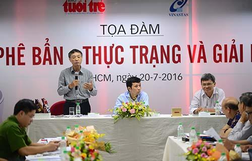 tọa đàm Cà phê bẩn, thực trạng và giải pháp Ảnh: Quang Định