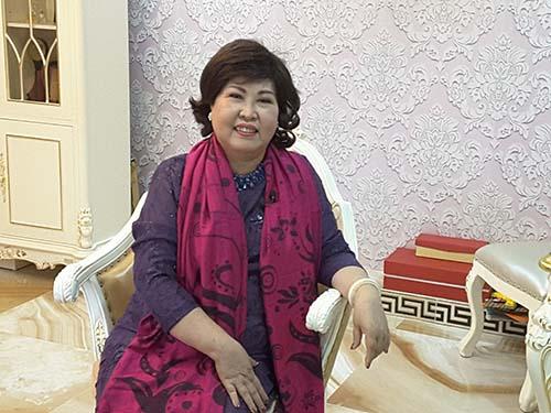 chị Phạm Thị Đào, Chủ tịch HĐQT kiêm Tổng Giám đốc Công ty TNHH Sản xuất Mỹ phẩm Anh Đào