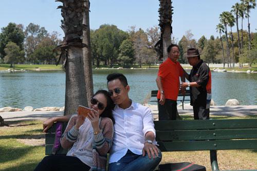 """Phim """"Cali mùa hoa vàng"""" đang quay tại California - Mỹ. (Ảnh do nhà sản xuất cung cấp)"""