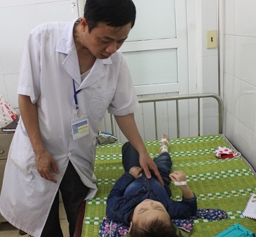 Các nạn nhân bị ong đốt được điều trị tại bệnh viện