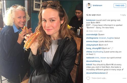 Nữ diễn viên Brie Larson thích thú trước bánh mì