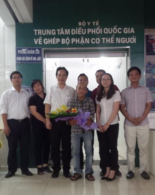 Trần Nguyễn An Khương và các bác sĩ tại Trung tâm Điều phối hiến ghép tạng quốc gia
