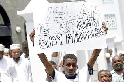 Quan hệ đồng tính tại Kenya được cho là bất hợp pháp. Ảnh: thepinkhumanist