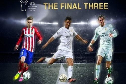 Ba ứng viên của danh hiệu Cầu thủ xuất sắc nhất châu Âu