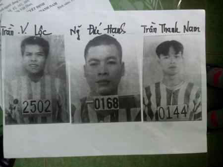 Chân dung ba phạm nhân trốn trại: Ảnh NLĐO