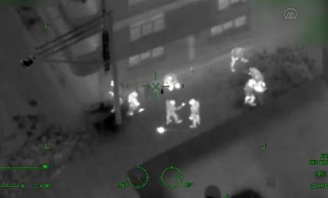 Hình ảnh chụp từ trực thăng. Ảnh: haberler