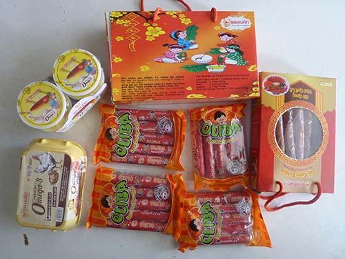 Các thực phẩm chế biến của Công ty Ba Huân