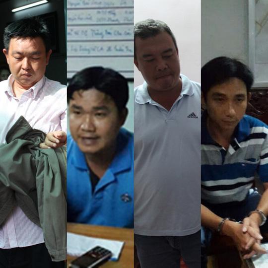 4 đối tượng (từ trái qua): Hoàng Anh, Minh, Duy và Cần. Ảnh: Công an cung cấp
