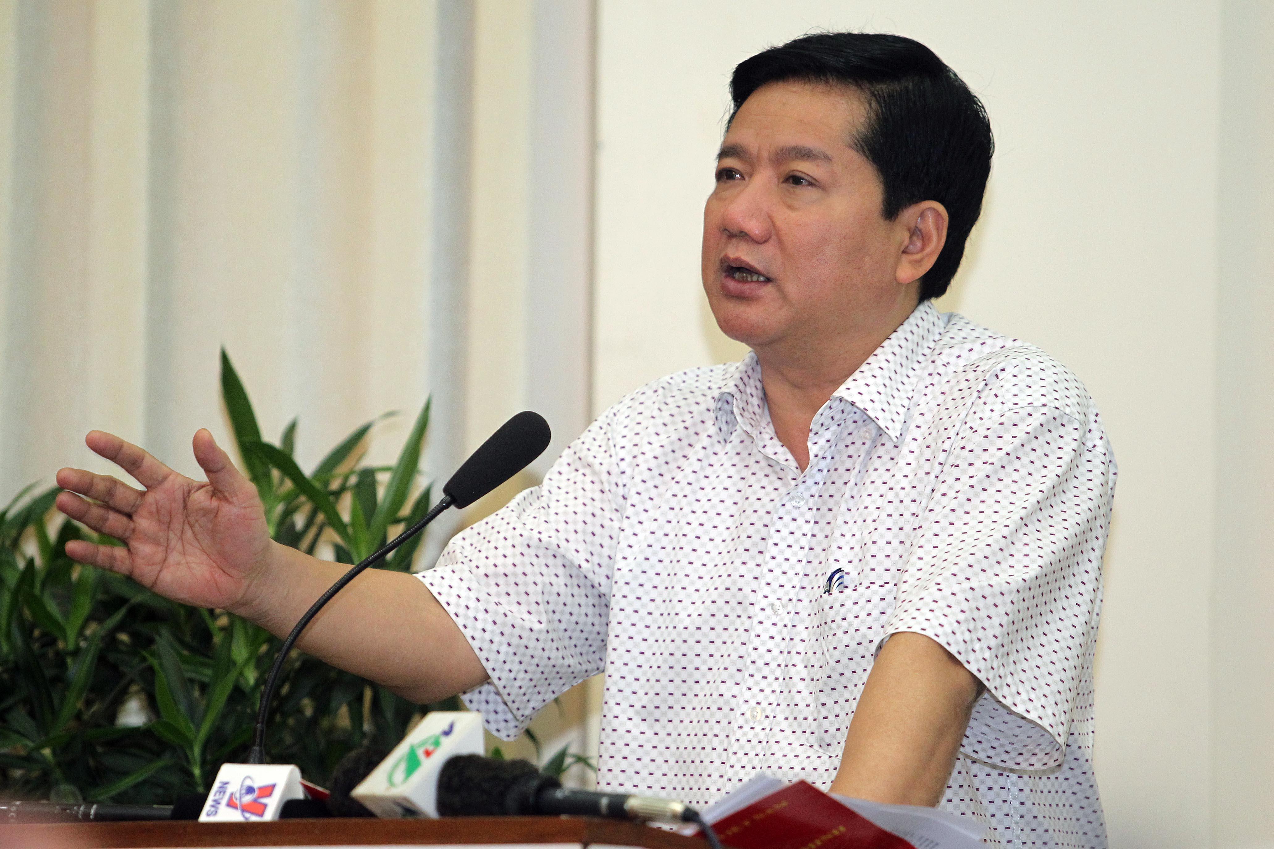 Bí thư Thành ủy TP Đinh La Thăng phát biểu tại hội nghị