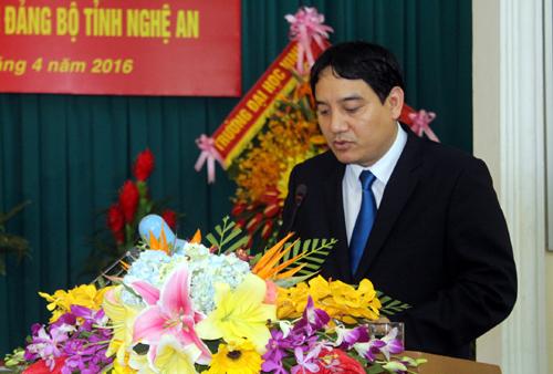 Tân Bí thư tỉnh Nghệ An Nguyễn Đắc Vinh