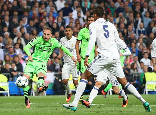 Bruno Cesar mở tỉ số cho đội khách đến từ Bồ Đào Nha