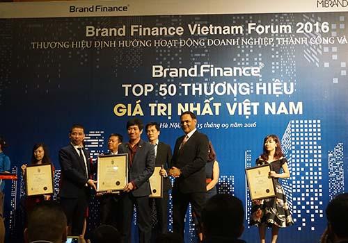 Công ty có giá trị thương hiệu vô hình lớn nhất Việt Nam