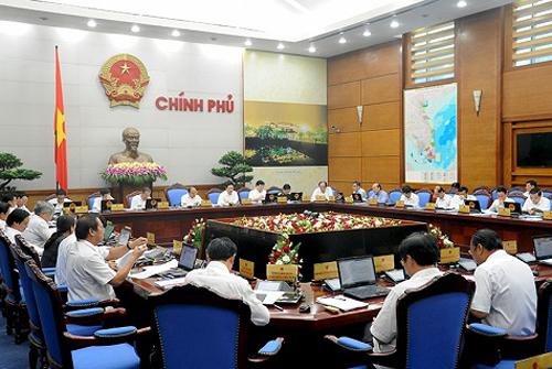 Chính phủ thảo luận về việc sửa Bộ luật Hình sự năm 2015 - Ảnh: VGP
