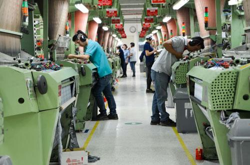 Nhà máy sản xuất hàng phụ trợ cho ngành dệt may mới khánh thành tại KCN Long HậuẢnh: Tấn Thạnh