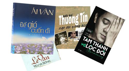 Bìa những cuốn hồi ký của nghệ sĩ đã phát hành được công chúng quan tâm