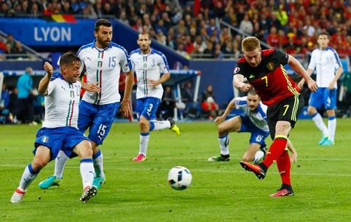 Nếu De Bruyne (7) không kịp bình phục, hàng tiền vệ Bỉ sẽ gặp nhiều khó khăn trước Ireland Ảnh: REUTERS