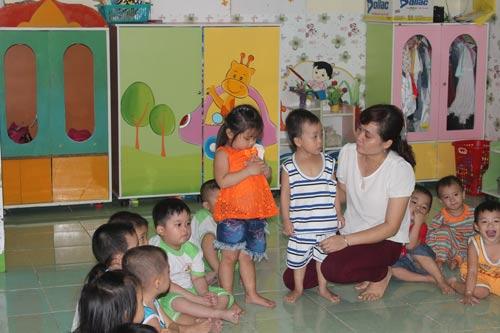 Nhà trẻ Ánh Dương được hình thành tại Công ty TNHH Việt Nam Samho giúp nữ công nhân an tâm làm việc